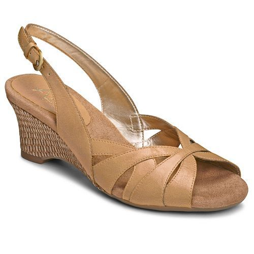 11834b80ce4a by Aerosoles® Zenchilada Slingback Wedge Heel Sandals found at