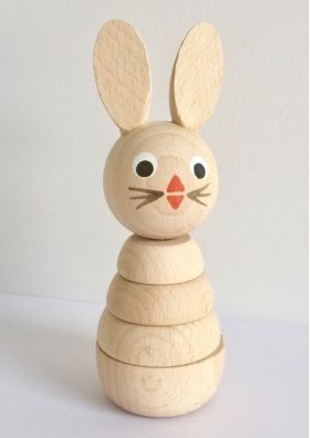 Wooden Stacking Rabbit #woodentoys #woodendecor #woodenstacking #woodenbuildups #woodenrabbit #kidsroom #nursery #oliverthomas