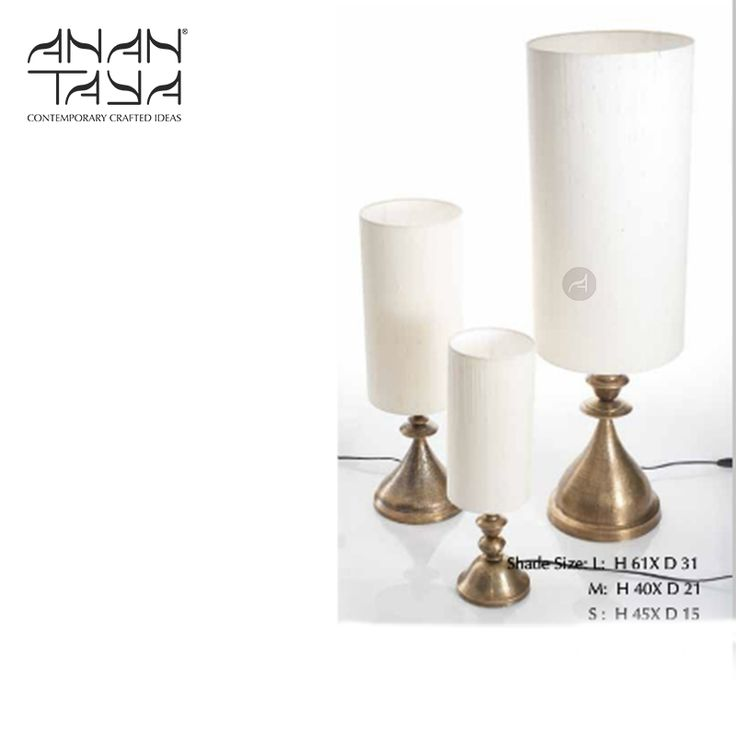 28 best lighting anantaya images on pinterest lamps light paying homage to kalash a temples top inspire this range of table lamps is hand beaten from sheet metal by the thathera artisans mozeypictures Image collections