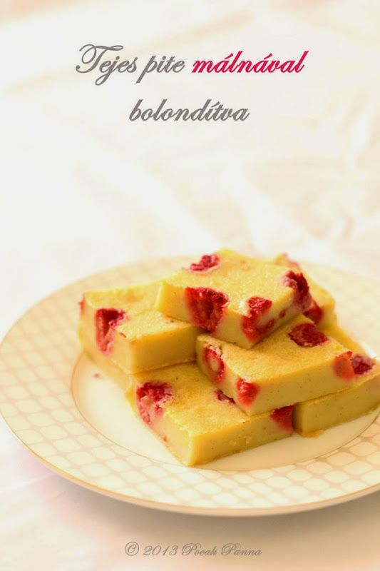 Tejes pite málnával bolondítva (glutén/tejtermék/cukor-mentes)   Pocak Panna