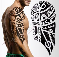 Incterseccion Tattoo Maori Half Sleeve Design by InkterseccionTattoo.deviantart.com on @DeviantArt