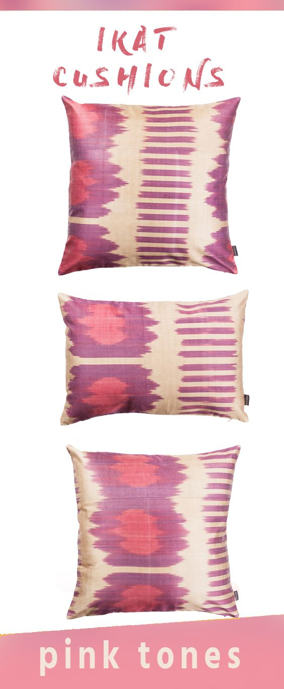 Pink Ikat Cushions Various Sizes, Colors  Patterns