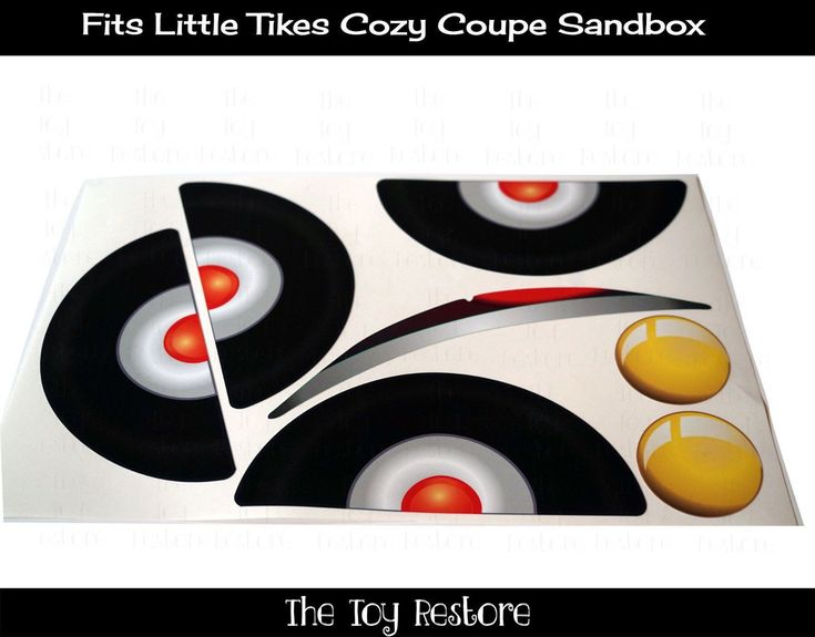New Replacement Decals fits Little Tikes Tykes Cozy Coupe Car Sandbox Sand Box