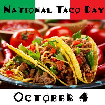 National Taco Day is October 4. Check out some of the taco-related promotional items.