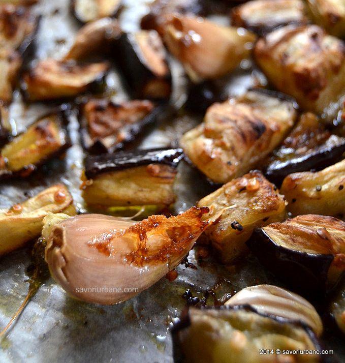 Paste cu ardei copt, usturoi si vinete caramelizate (6)