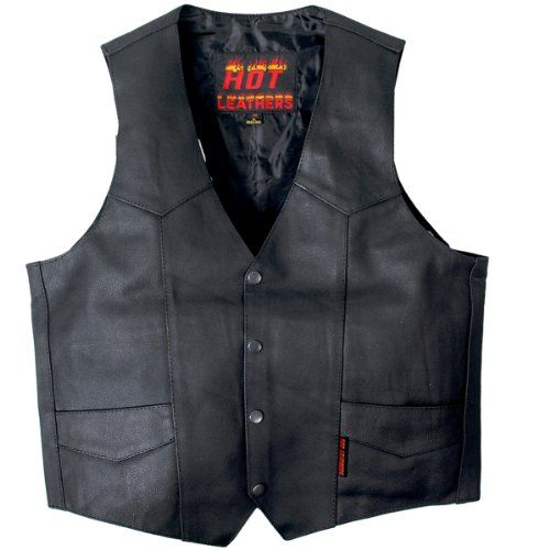 Save $ 10 order now Hot Leathers Heavy Weight Cowhide Motorcycle Leather Vest (B