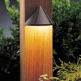 Check out the Kichler 15045AZT Six Groove Transitional Deck Light
