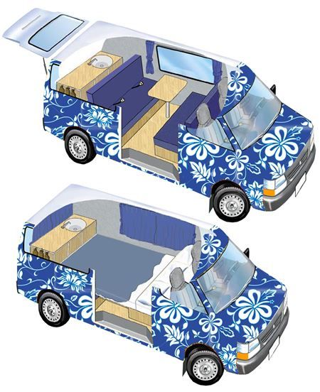 Our Ventura Model A 2 Berth Campervan Is Dodge Caravan That Seats 4 And Sleeps People