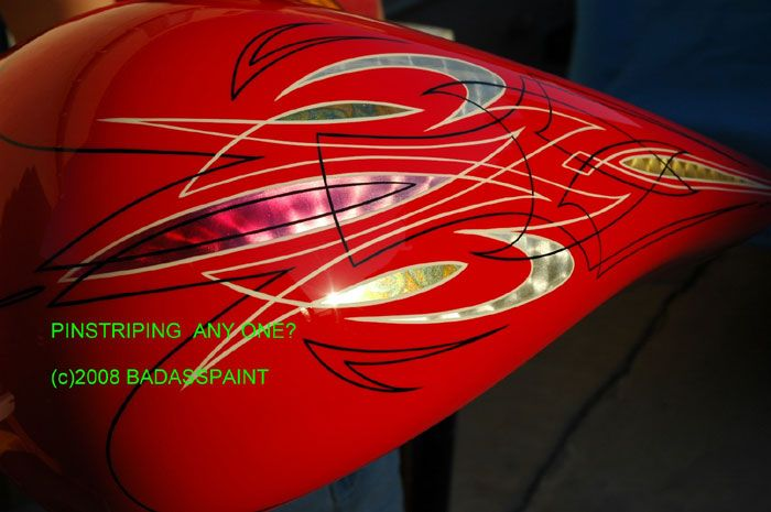 Pinstripe designs for motorcycles bad ass paint custom for Car paint designs pictures