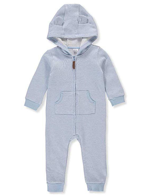 21891faf58ec Carter s Baby Boys Dog Fleece Hooded Jumpsuit Newborn Blue White ...