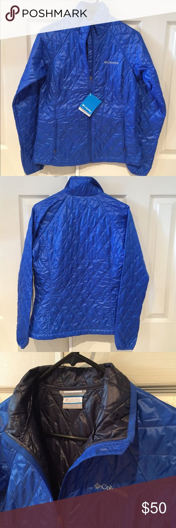 Columbia women's synthetic down jacket NWT Brand new Women's light weight warm jacket  Size S Tapered with elastic at hem to tighten for warmth. Very versatile, great for travel and cold weather. See photos for fabric & sizing Comment any questions   Make an offer ☺️ Columbia Jackets & Coats Puffers