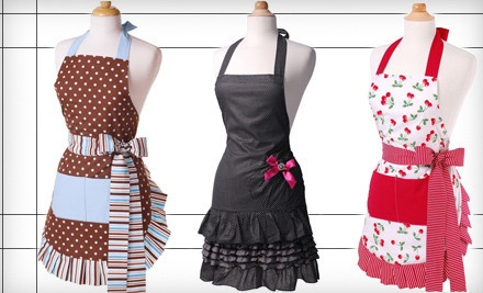 Love these aprons -- make me feel like a kitchen diva!    I got the middle one for Mother's Day!