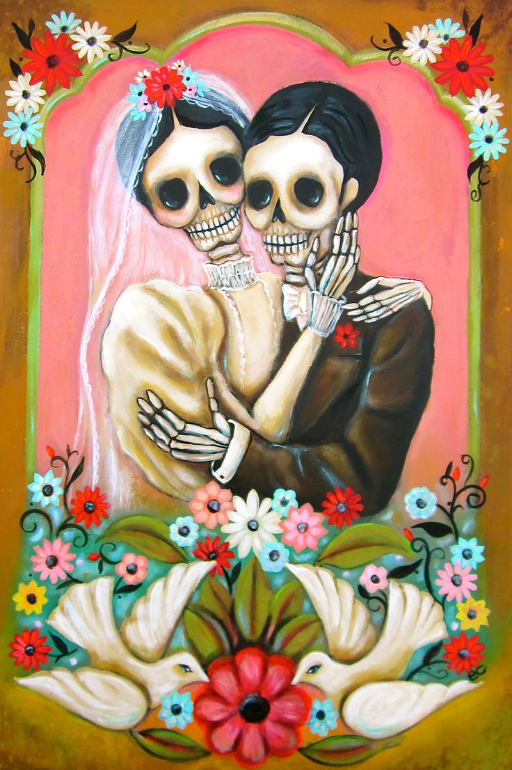 661 best dia de los muertos images on pinterest sugar skulls love the work of arizona artista emily costello dia de los muertos los novios day of the dead couple by emily costello dailygadgetfo Choice Image