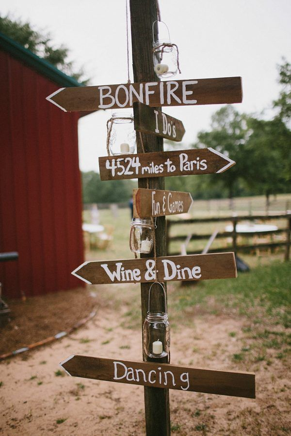 Cute wood wedding signage | Image by Marcos Sanchez