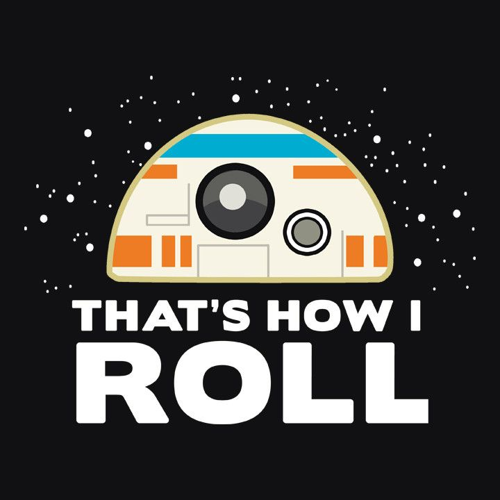 Funny Star Wars The Force Awakens BB-8 T-Shirt | Funny Geek Shirt | Men's, Women's and Kid's Sizes. Available from Boots Tees. (pictured: men's black tee)