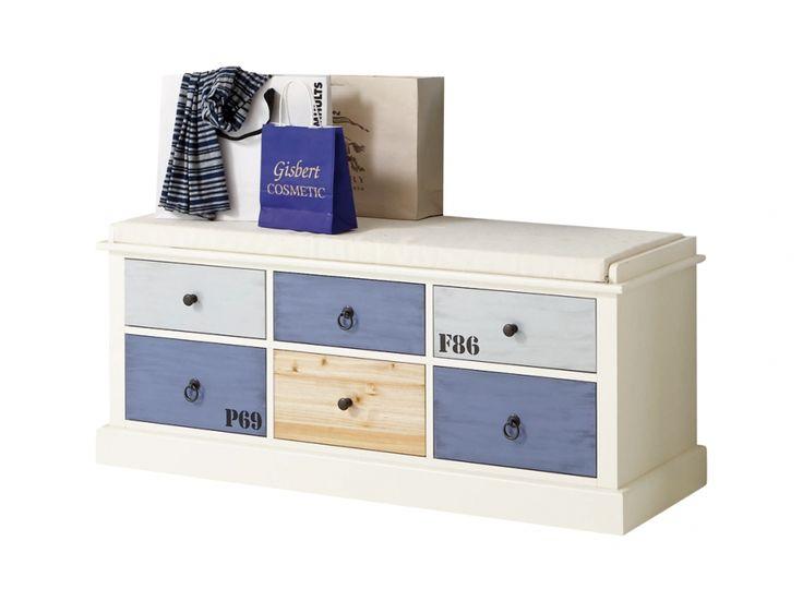 SANDBACKA Sittbänk 113 Vit i gruppen Inomhus / Förvaring / Hallmöbler hos Furniturebox (100-85-121946)