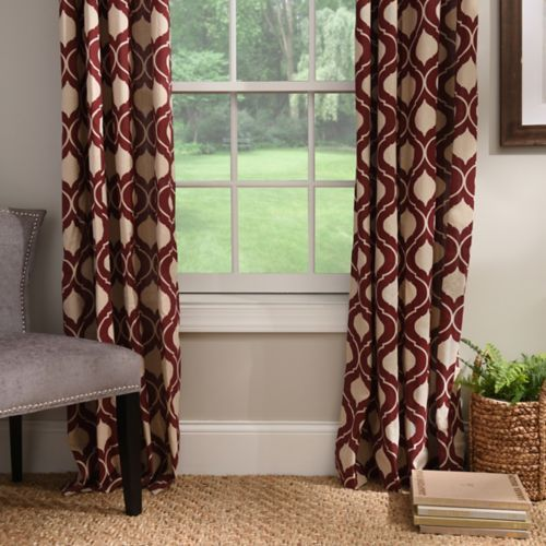 Burgundy Vanness Curtain Panel Set 96 In CurtainsCurtain PanelsLiving Room
