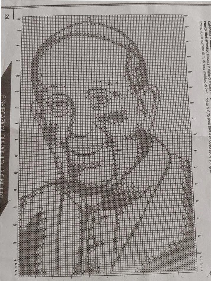Hobby lavori femminili: Schema punto croce  - Papa Francesco