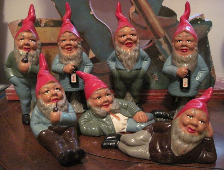 german minature knome | They're an expressive bunch of little guys, measuring 6 inches tall.
