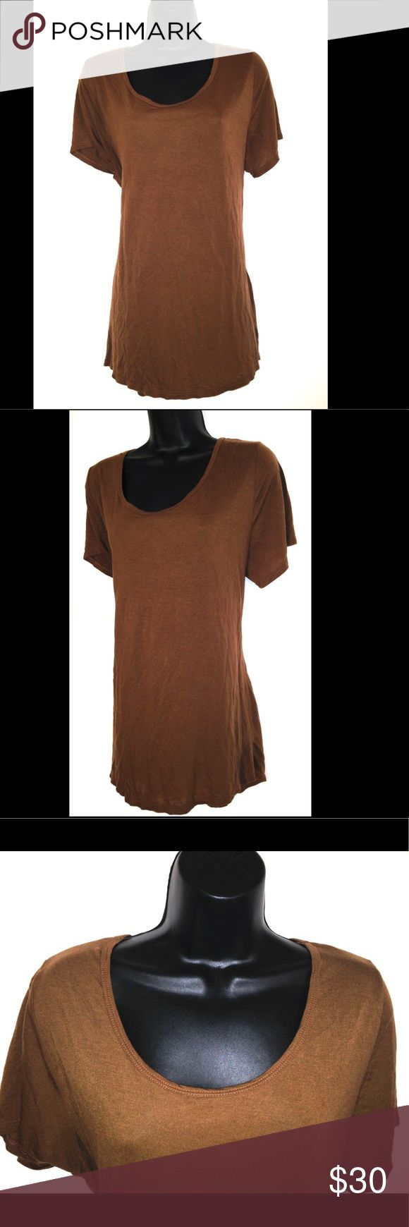 Lularoe Classic XL Shirt Dark Brown Womens T-Shirt Lularoe Classic XL Shirt Dark Brown Womens T-Shirt Top LuLaRoe Tops