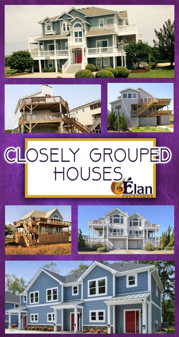 Planning an #OBX wedding or family reunion...and need more than one rental? Check-out our closely grouped homes!