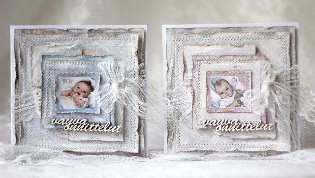 Handmade baby card - Pastellipäivä