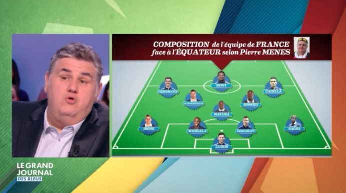 Le onze des coiffeurs de Pierre Ménès France vs Equateur - http://www.actusports.fr/108079/onze-coiffeurs-pierre-menes-france-vs-equateur/