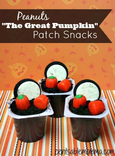 """Relive It's the Great Pumpkin, Charlie Brown with these Peanuts """"The Great Pumpkin"""" Patch Snacks. #peanutsmovie #ad"""