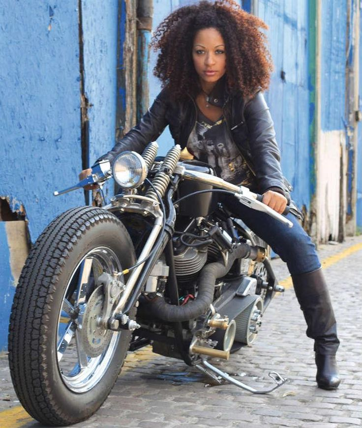 There's just something about a woman on a big bike