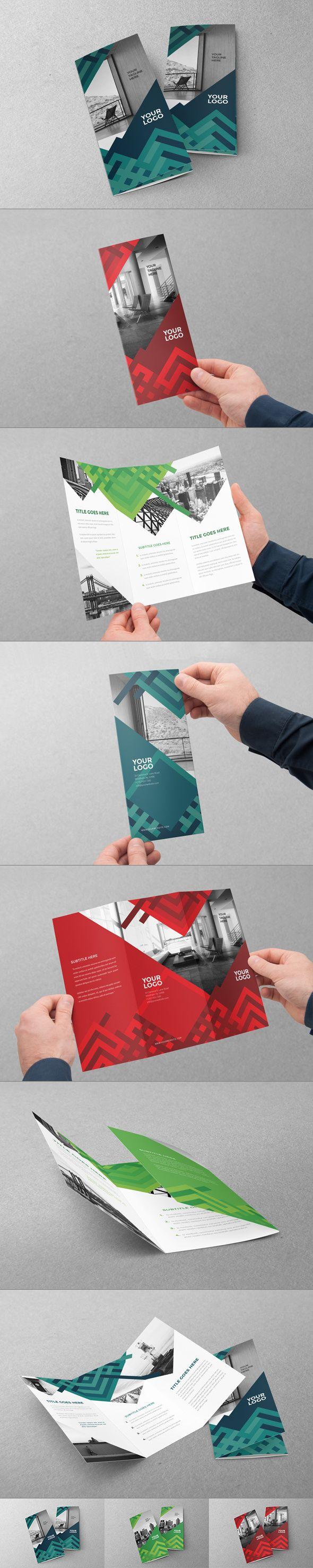 Colorful丰富多彩的三折页画册设计...