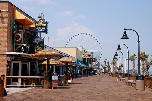 Myrtle Beach Boardwalk is a great place to shop, dine, relax, play miniature golf, and never forget to feed the fish.  Lots to do here.