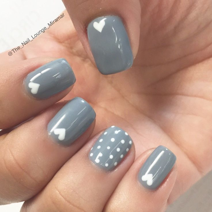 1000+ Ideas About Gray Nails On Pinterest