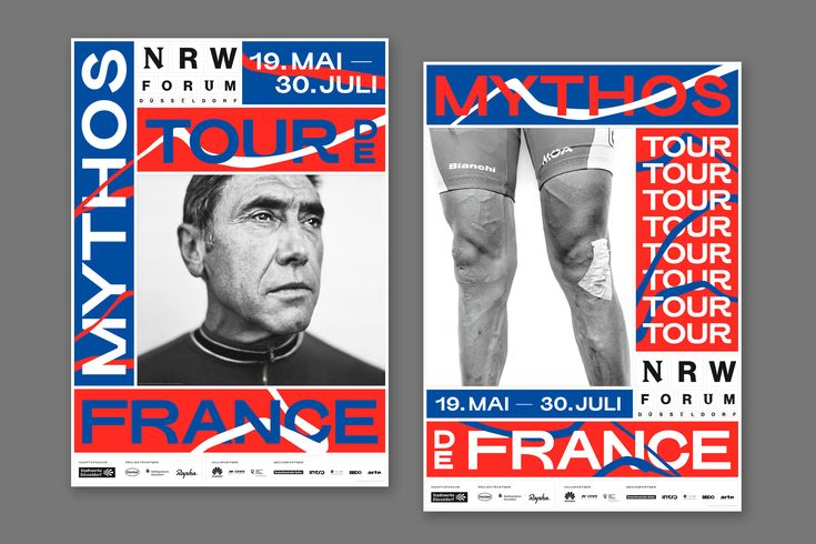 "happy-little-accidents.de — Sporting Grotesque (with modified ""R's"") in the Myth Tour de France branding."