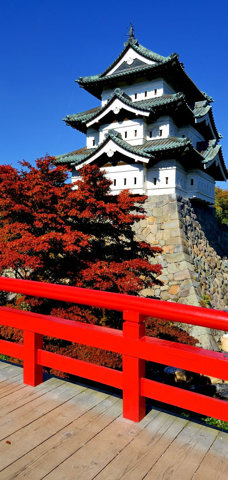 Hirosaki Castle in Hirosaki, Japan. The castle dates from 1611 and was the seat of the Tsugaru Clan.