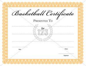 29 best images about sports certificate templates on for Basketball mvp certificate template
