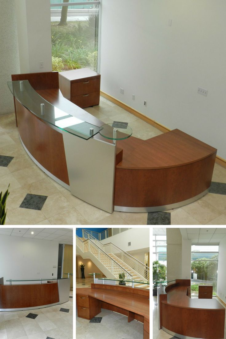 cover letter hotel front desk%0A Curved Reception Desk  with glass  Love it