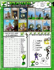 english worksheet plants vs zombies 1 activities plants vs zombies worksheets vocabulary. Black Bedroom Furniture Sets. Home Design Ideas