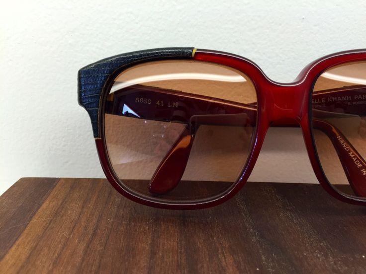 1980's Emmanuelle Khanh leather wrap sunglasses by blackandbluevintage on Etsy https://www.etsy.com/listing/223855615/1980s-emmanuelle-khanh-leather-wrap