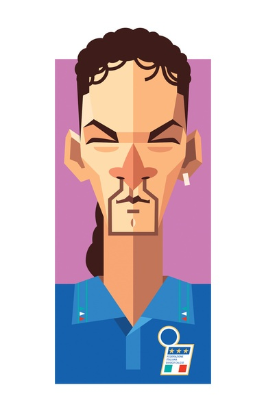 Roberto Baggio by Daniel Nyari