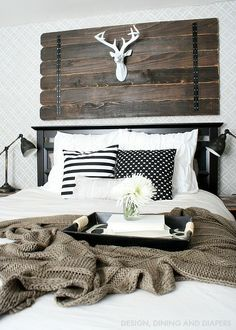 Modern Rustic Bedroom!