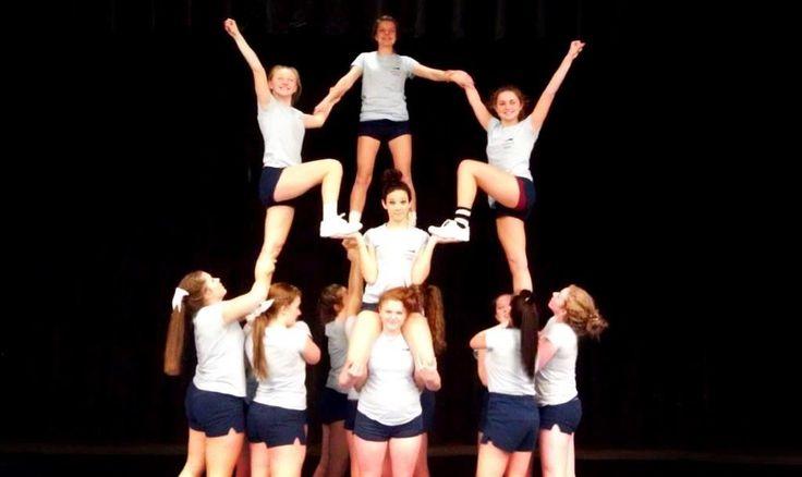Cool Cheerleading Stunts | Catoctin High School Cheer Stunt Cheerleading