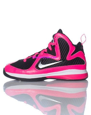 newest collection 29d8a b07cf Womens Pink Lebron 9 Shoes Black Laser