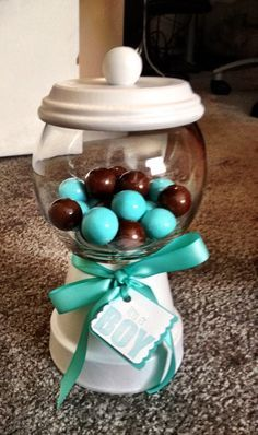 Baby Shower Ideas for Boys On a Budget | Baby shower centerpiece on a budget $5 (pics) - BabyCenter