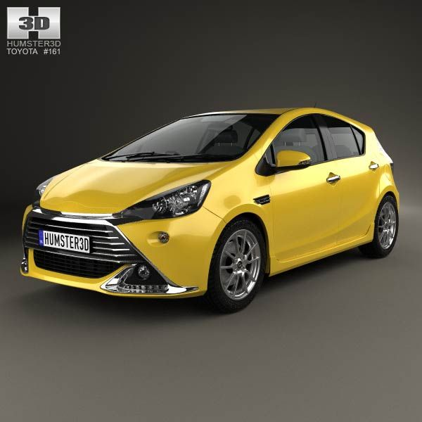 Toyota Aqua G Sports 2013 3d model from humster3d.com. Price: $75