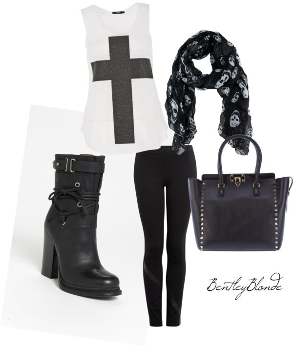 """Casual Rocker Look"" by bentleyblonde on Polyvore - love this look!"