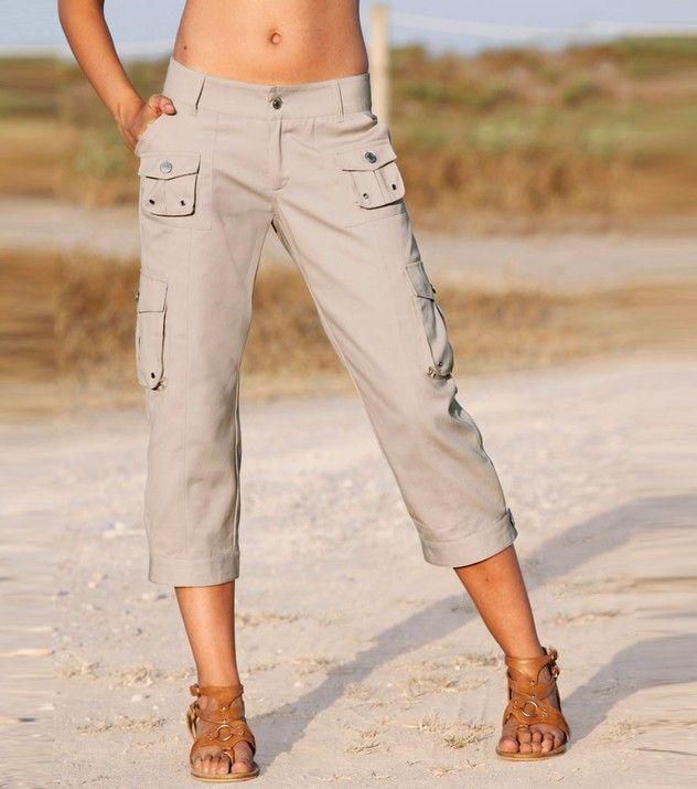 Pantalón pirata mujer de tiro bajo