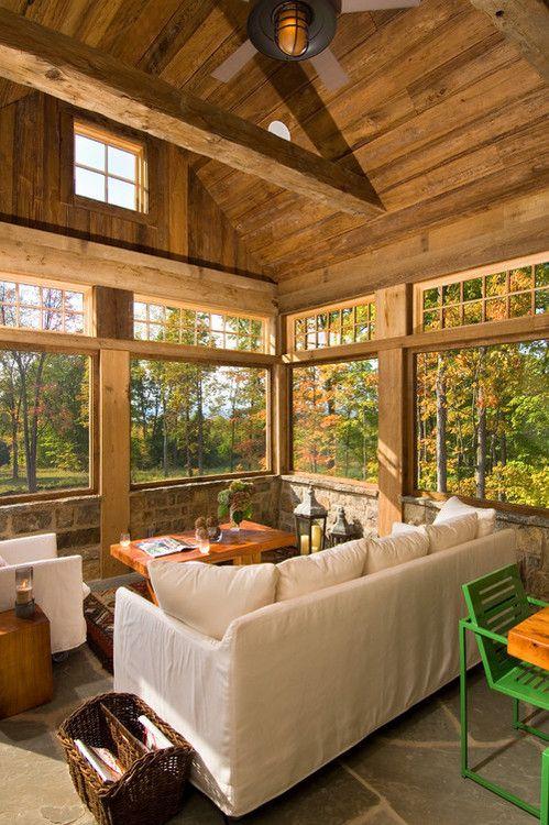 Hillside retreat on Saratoga Lake, NY. Witt Construction.  LOVE it