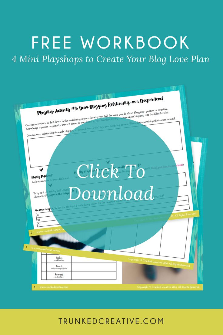 Hate blogging? Click here to learn what to do and get the FREE workbook! trunkedcreative.com