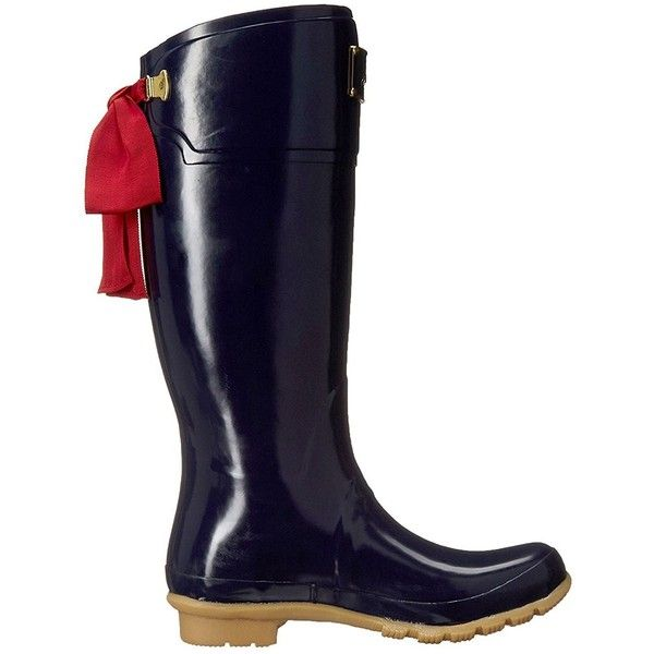 Joules Women's Evedon Rain Boot ($116) ❤ liked on Polyvore featuring shoes, boots, waterproof wellington boots, water proof shoes, joules boots, wellies shoes and flexible shoes