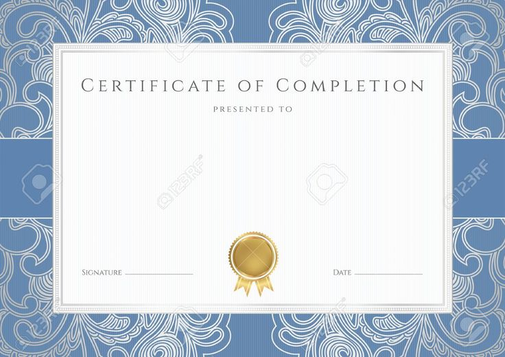 free templates for certificates of completion - Google Search